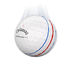 Callaway Chrome Soft X Triple Track Vapor Ball (L37+)