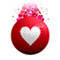 3 Pack of Heart Vapor Balls