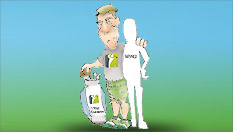 Guest Caddy for Steve Elkington