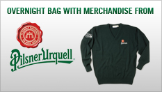 Overnight Bag with Pilsner Urquell Branded Golf Essentials